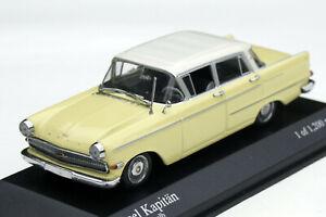 Opel Kapitän P2, 6 Bj. 1959-1963, Yellow/White, Minichamps-Modell IN M.1: 43,