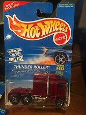 1996 Hot Wheels Thunder Roller Semi Tractor Red W/5SP's #483