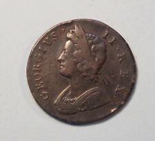 1729 Great Britain Colonial 1/2 Penny World Coin Britania Seated UK England