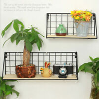 Home Garden Decor Iron Wall Mount Pot Plant Holder Planter Rack Window Box