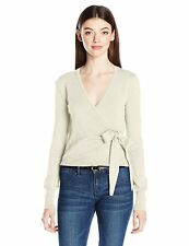 XOXO Women's L/S Long sleeve Wrap Front Cardigan Sweater Ivory NWT size XL
