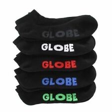 Globe Socks 5 Pack Stealth Ankle Black Size 7-11 Skateboard Sox New