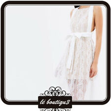 KEEPSAKE THE LABEL Uptown Lace Ivory Dress M RRP $209.00 (4A)