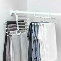 Pants rack shelves 5 in 1 Stainless Steel Multi-functional Hanger Wardrobe K2K7.