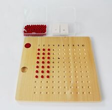 NEW Montessori Mathematics Material- Multiplication Bead Board