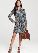 NWT!  Banana Republic Batik Floral Navy Dress Size 0
