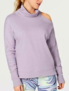 Calvin Klein Performance NWT Purple Mock-Neck Cold-Shoulder Top, Size XL    GG70