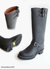 Wesco - Boss - 16″ Engineer Black - Brown Leather Lined Boots
