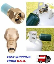 Propane Refill Adapter Lp Gas 1 Lb Cylinder Tank Coupler Heater 100% Brass ZAE