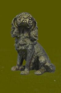 Sculpture Statue Miniature Cocker Spaniel Dog Animal Pet Trainer Bronze Figurine