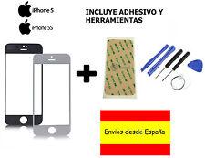CRISTAL EXTERIOR PANTALLA FRONTAL +ADHESIVO + HERRAMIENTAS IPHONE 5 5S 5C BLANCO