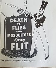 1937 Flit insecticide fly spray can kill moths flies ad