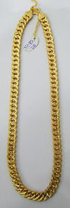 Vintage solid 22K Gold handmade jewelry flexible link Chain Necklace