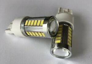6 x T20 7440 7443 33 SMD  LED BACK UP REVERSE LIGHT WHITE DC12V AU Stock