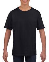 Plain Black Childrens Kids Boys Girls Childs Cotton Tee T-Shirt Tshirt Age 3-14
