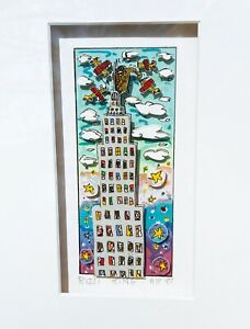 """James Rizzi """"King"""" 3D Construction Lithograph from 1988 (A.P.)(1 of 50)"""