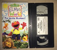 Sesame Street: Elmo's World The Great Outdoors (VHS, 2003)