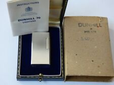 Near Mint DUNHILL 70 Lighter Silver Plated Barley Design - Comes Fully Boxed