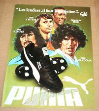 Voetbal poster Pelé Brazil Cruyff Nerderland Maradona Kempes Argentina pub Puma