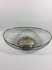 Vintage Eales1779 Silverplate Oval Wire Basket