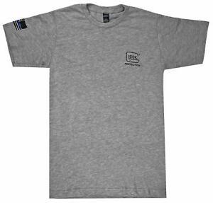 Glock We've Got Your Six Short Sleeve Cotton/Polyester T-Shirt Gray 3XL AP95685