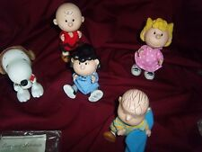 5 snoppy ceramic peanut characters