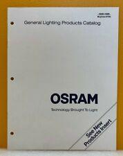 Osram General Lighting Products Catalog.
