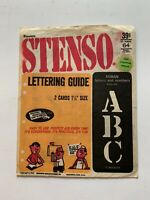 """Vintage Dennison Stenso 1 1/2"""" Roman Letters & Numbers Stencil Lettering Guides"""