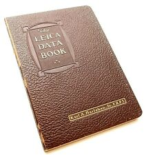 LEICA DATA BOOK by KARL A BARLEBEN Jr - UK DEALER