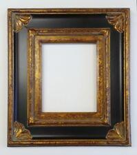 "Picture Frame 8x10""- Ornate- Bronze Gold & Black Color- Wood/Gesso- GLASS 278BPG"