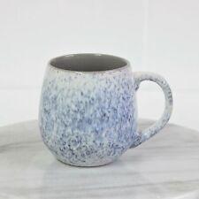 500ml Stoneware Reactive Glazed Snug Mug Grey Blue Coffee Tea Ombre Speckled Cup