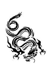 High Detail Dragon Airbrush Stencil - Free UK Postage