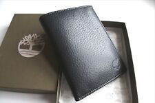 TIMBERLAND Large Black Leather WALLET Brand New In Box Notes Cards 9.5 x 12.5cm