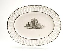 ANTIQUE ITALIAN FAIENCE RETICULATED SERVING DISH 18TH C.