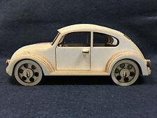 Taglio laser in legno VW Beetle 3d Puzzle Kit Modello/