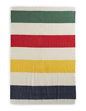 Hudson's Bay Company (HBC) Multi Stripe Windsor Lambs wool Throw Blanket