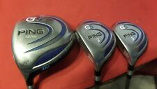 Ping G5 Wood Set 9* Driver 3-5 Woods TFC100 Regular Graphite Men Left Handed