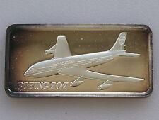 1975 Hamilton Mint Boeing 707 HAM-645 Silver Art Bar D2176