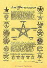 THE PENTAGRAM POSTER A4 SIZE Wicca Pagan Witch Witchcraft Goth BOOK OF SHADOWS