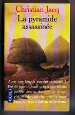 christian jacq - la pyramide assassinée - presses pocket - tres bon etat -