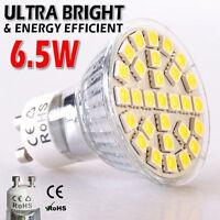 12 Pack x GU10 Warm White LED Bulbs 6.5W SMD5050 Yellow Effect Spot Light Lamps