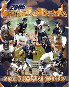 2006 Chicago Bears NFC Champions 8x10 Color Photo SP155 Men