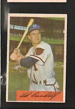 5932* 1954 Bowman # 32 Del Crandall Ex/Ex-Mt