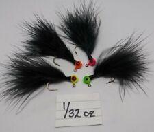 5 pack 1/32 oz hand tied Freestyle Marabou jigs steelhead trout RANDOM COLORS