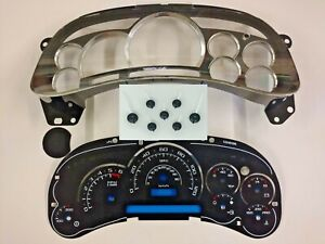 Cadillac Escalade Upgrade Custom Gauge Face Kit for Silverado Tahoe 2003 04 05
