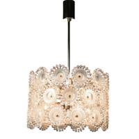 Sölken Pendel Leuchte Pusteblume Hänge Lampe Acryl & Chrom Design Vintage 70er