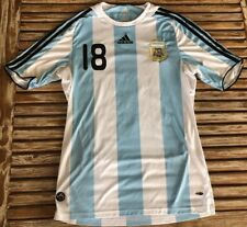 f8454d932c3 Argentina Home football shirt 2007-2009 #18 MESSI Size M jersey soccer  Adidas
