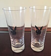 2 Vintage Playboy Club Beer / Drinking Glasses Excellent Condition