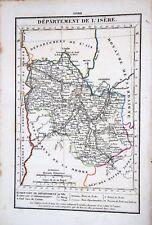 38 Isère rare gravure carte géographique Girard Roger 1823 (40-1)