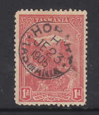 Postmark: Hobart H Tasmania On 1d Pitorial